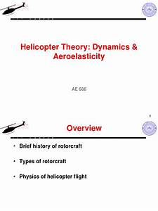 Helicopter Theory  Dynamics  U0026 Aeroelasticity