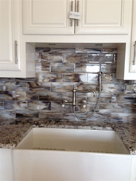backsplash kitchen glass tile fused glass streaky brown subway tile for kitchen 4269