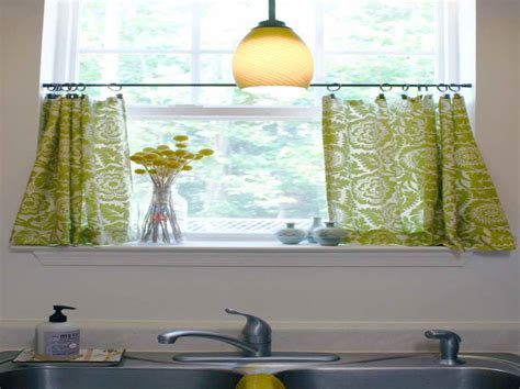 kitchen window curtains  treatments  small spaces