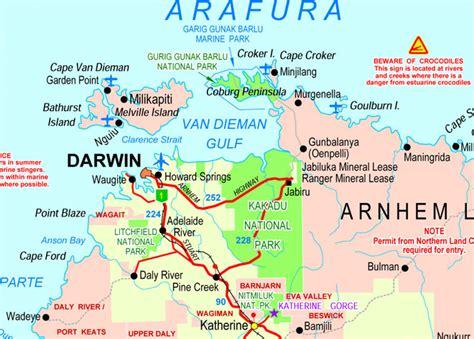 darwin australia map