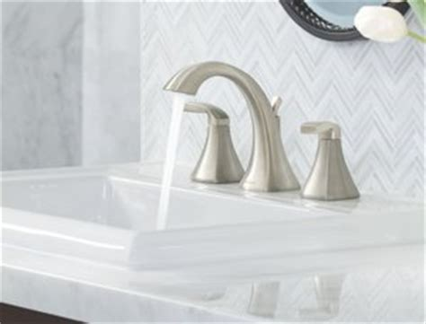 moen  voss  handle high arc bathroom faucet