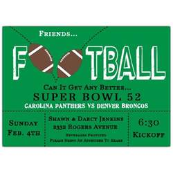 bridal luncheon invite football frenzy invitations paperstyle