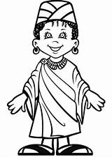 Coloring Pages Kwanzaa African Printable Clipart Afro Sheets Drawing Traditional Cliparts Clip Getdrawings sketch template