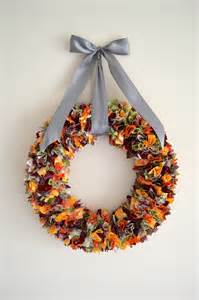 fall fabric scrap wreath it with danielle