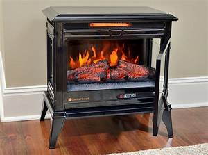 Comfort Smart Jackson Black Infrared Electric Fireplace