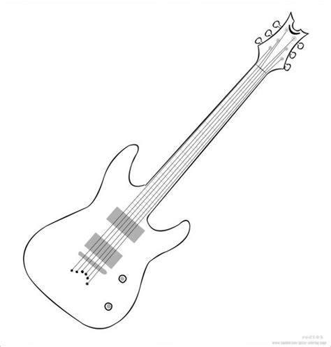 guitar coloring page kid camp work ideas pinterest