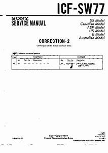 Sony Icf-sw77  Serv Man4  Service Manual