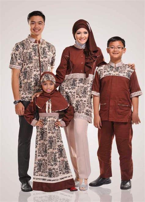 gambar baju muslim batik keluarga terbaru desain