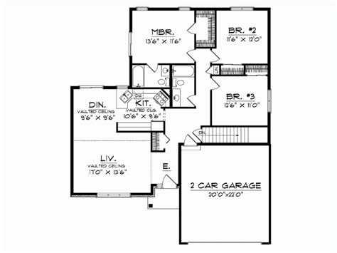 one level house plans modern one house floor plans simple one houses