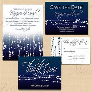 midnight blue star streamers save the date invitation rsvp With wedding invitations with rsvp and save the date