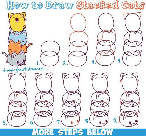draw  cat step  step  kids kids