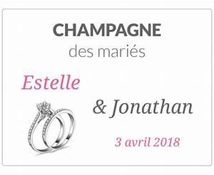 Etiquette Champagne Mariage : tiquette personnalis e bouteille champagne mariage labelpix ~ Teatrodelosmanantiales.com Idées de Décoration