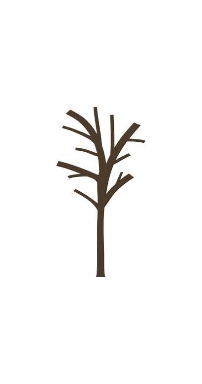 Tree Bare Clip Dead Clipart Outline Silhouette