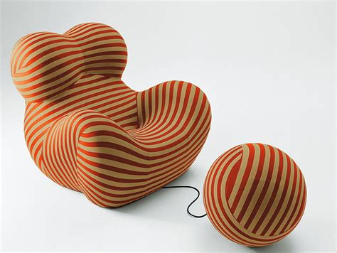 brown bedroom ideas zingy chair by designer gaetano pesce ideas for home