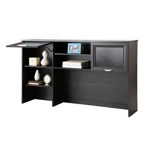 realspace magellan collection hutch 33 5 8 quot h x 58 1 8 quot w x 11 5 8 quot d espresso 101075 sku