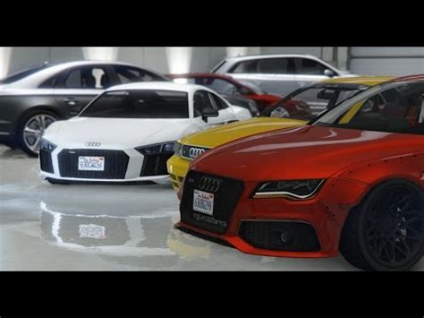 gta 5 my audi collection real car mods youtube
