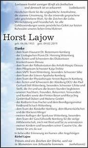 Super Sonntag Wittenberg : traueranzeigen von horst lajow ~ Watch28wear.com Haus und Dekorationen