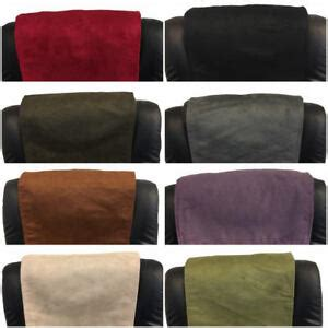 furniture recliner headrest couch suede leather sofa protector    ebay