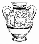 Greek Vase Drawing Coloring Pages Lone Getdrawings sketch template