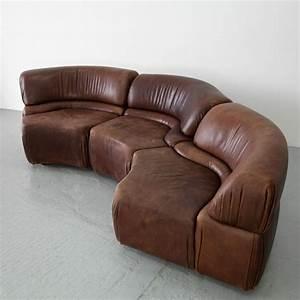 Lounge Sofa Leder : three parts sofa set de sede leather lounge group 60s sofe elemente leder oneofus sofa ~ Watch28wear.com Haus und Dekorationen