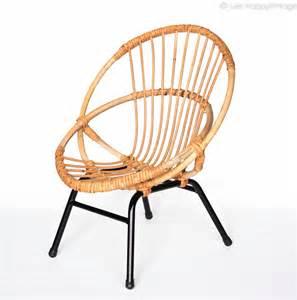 fauteuil en rotin enfant vintage les happyvintage
