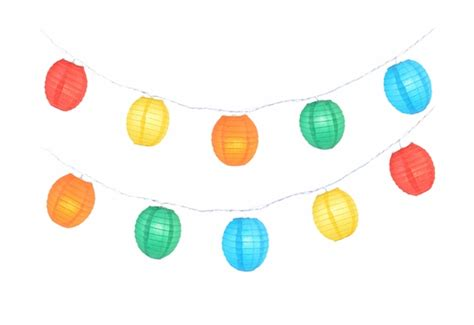 multi color kawaii shaped shaped paper lantern string