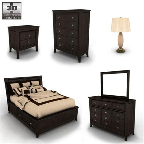 Martini Suite Bedroom Set by Martini Suite Storage Bedroom Set 3d Model Humster3d