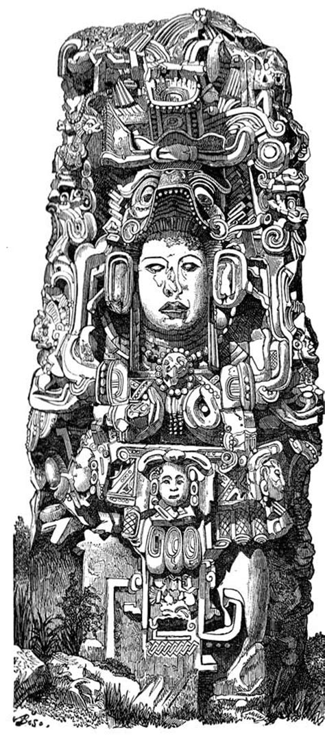 mayan coloring pages - Clip Art Library