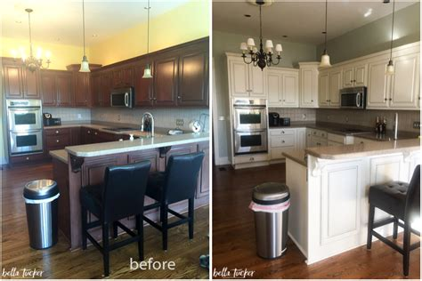 painted kitchens before and after painted cabinets nashville tn before and after photos 129 | kitchen cabinet painting cream cabinets before and after bella tucker