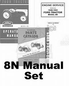 Ford 8n Tractor Engine Service Operators Parts Manual