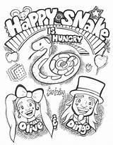 Snake Shows Coloring Happy Hungry Kid Olive sketch template