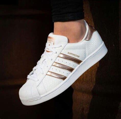 shoes rose gold adidas adidas superstars white adidas