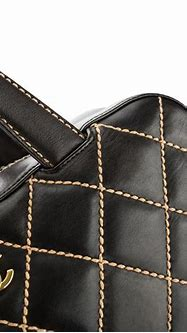 Chanel Black Quilted Leather Matelasse Wild Stitch Boston ...