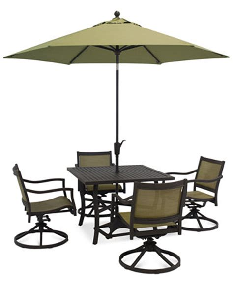 lexford 5 aluminum patio set 40 quot table and 4 swivel
