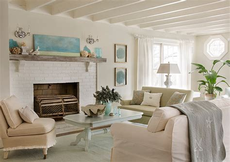 coastal living room cottage with inspiring coastal interiors home bunch