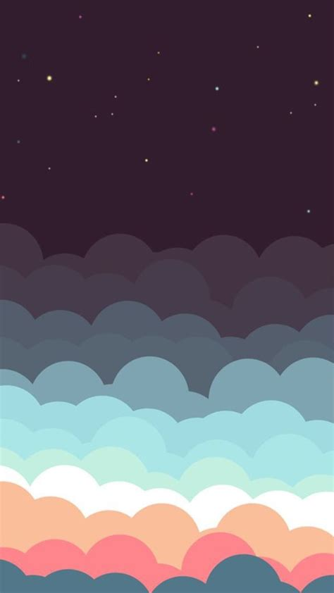 Free Animated Iphone Wallpaper - animated colourful clouds sky iphone wallpaper