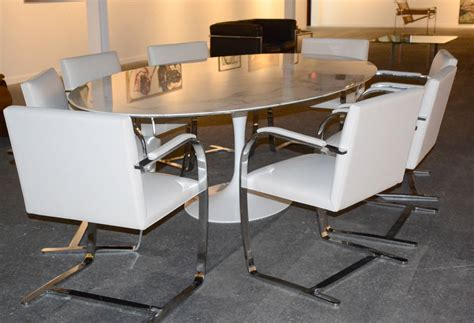 marble conference saarinen tulip oval dining or conference table with marble