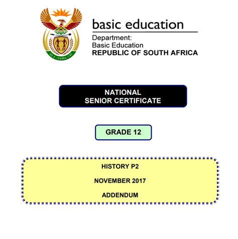 grade  history exam preparation south african history