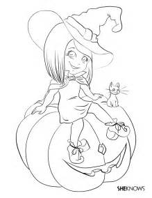 Halloween Witch Coloring Pages - AZ Coloring Pages