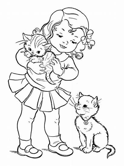 Coloring Pages Kitten Books Adult Cat Cats