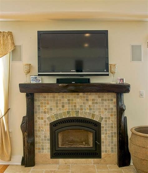 wood fireplace mantels  cozy focal point element