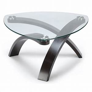 magnussen allure pie shaped cocktail table in hazelnut With allure coffee table