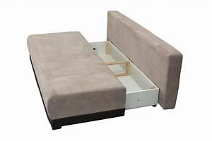 Bettsofa Ontario moderne Schlafcouch mit Bettkasten