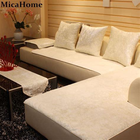 european leather sofa cushion plush sofa cloth fabric sectional towel set sofa covers  home