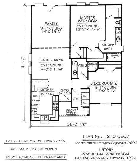 one two bedroom house plans 2 bedroom 1 bathroom house plans 2 bedroom 2 bath one