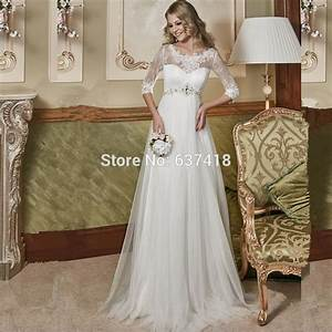 2016 empire waist maternity wedding dress for pregnant With empire waist wedding dress maternity