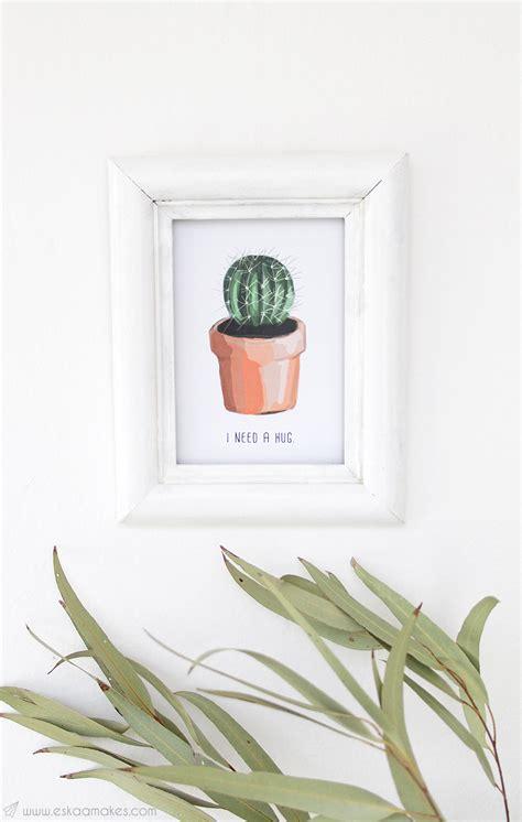 digital wallpaper  wall art cacti love eskaa