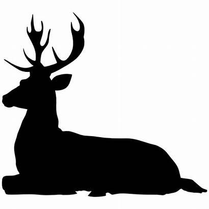 Deer Laying Down Buck Sticker Decal Clipart