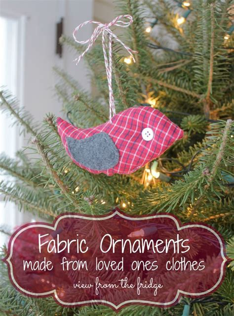Hometalk   Fabric Ornaments Made From Loved One's Clothing