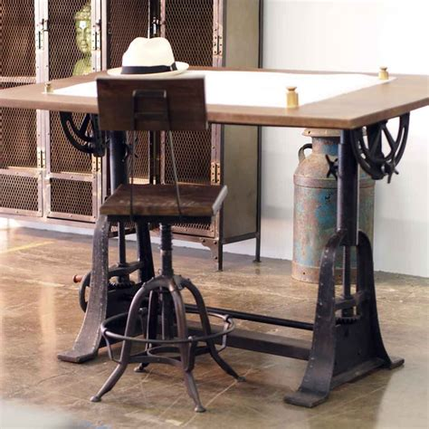 Cafe Kitchen Decorating Ideas - industrial style drafting desks eclectic home office los angeles by crash industrial supply